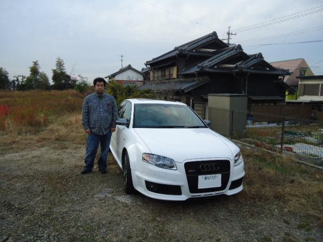 アウディ RS4 納車